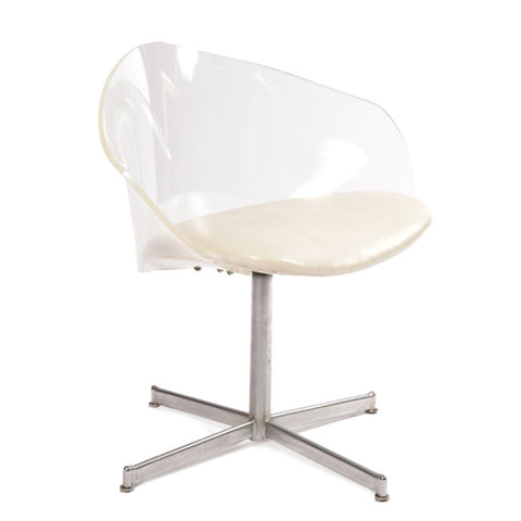 Lucite Bucket Chair