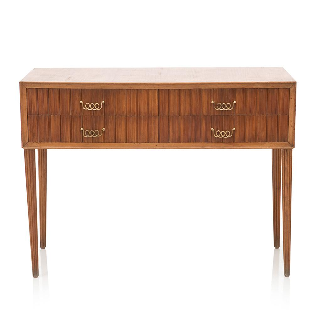 Four Drawer Wood Console Table