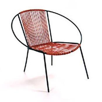 Cord Hoop Chair - Red with Black Frame