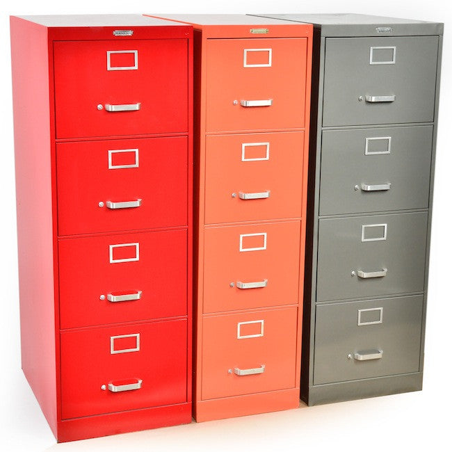 Filing Cabinets - Devon : Red, Orange, Grey