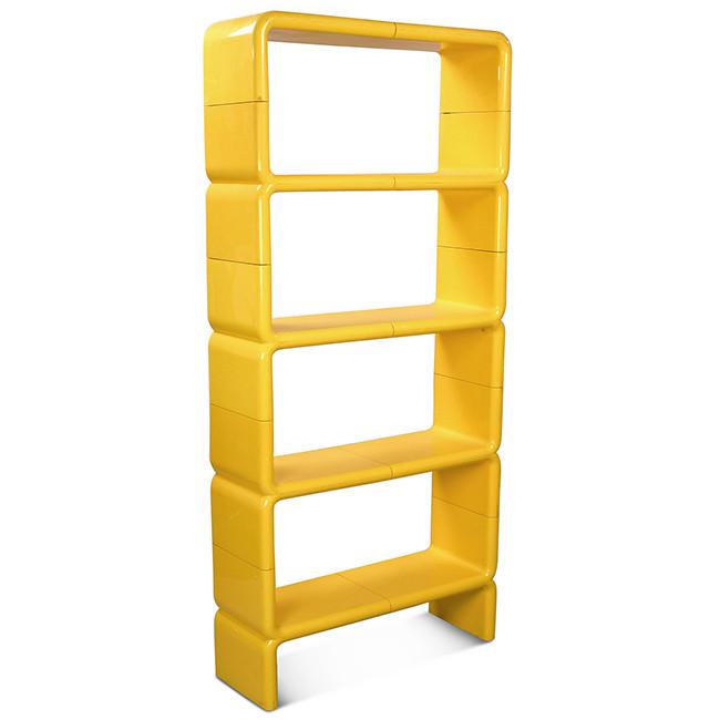Rounded Stacking Yellow Plastic Shelves