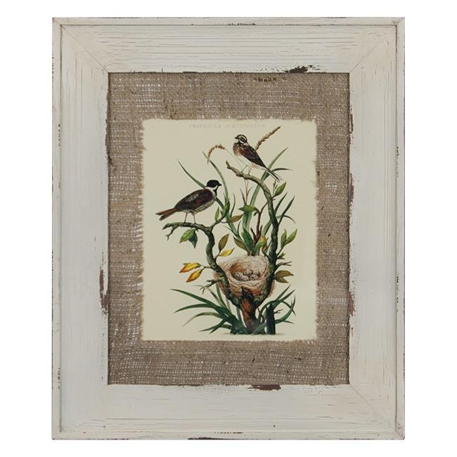 "100-223 Bird Pair Frincilla (15"" x 18"")"