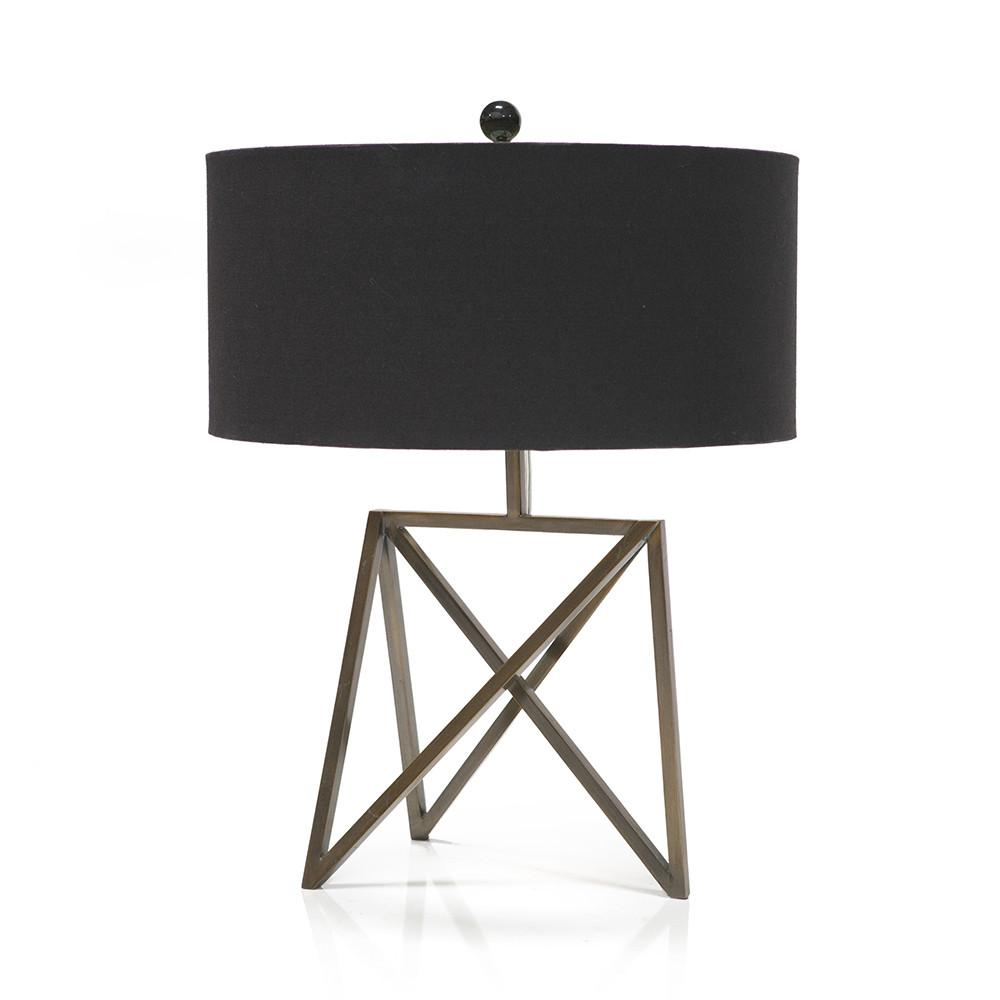 Brass Triangle Table Lamp