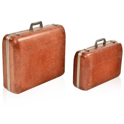 Brown Fiberglass Luggage Set