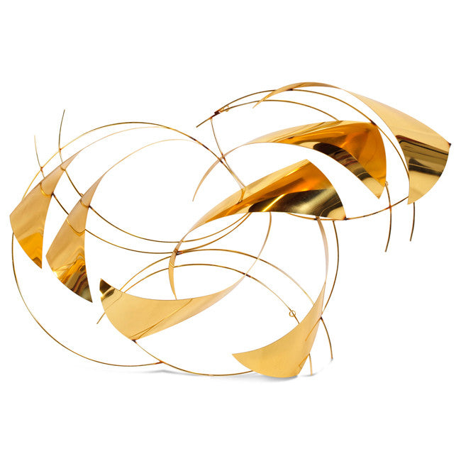 Abstract Brass Wall Hanging