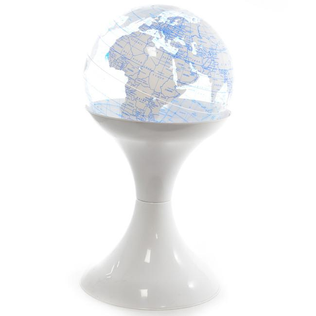 Clear Globe on White Stand