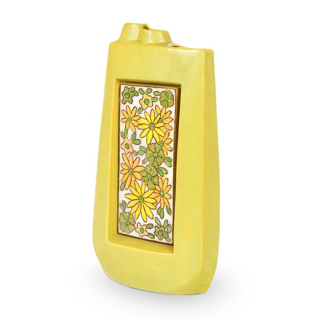 Yellow Green Flower Vase