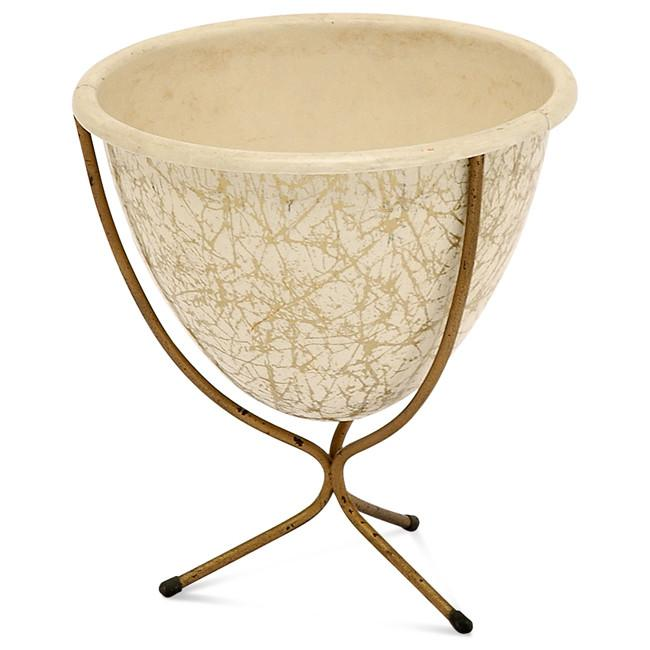 Cream Gold Planter