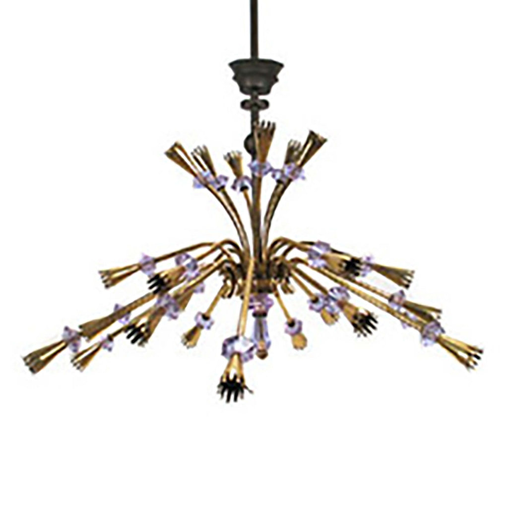 Brass Rods Hanging Chandelier