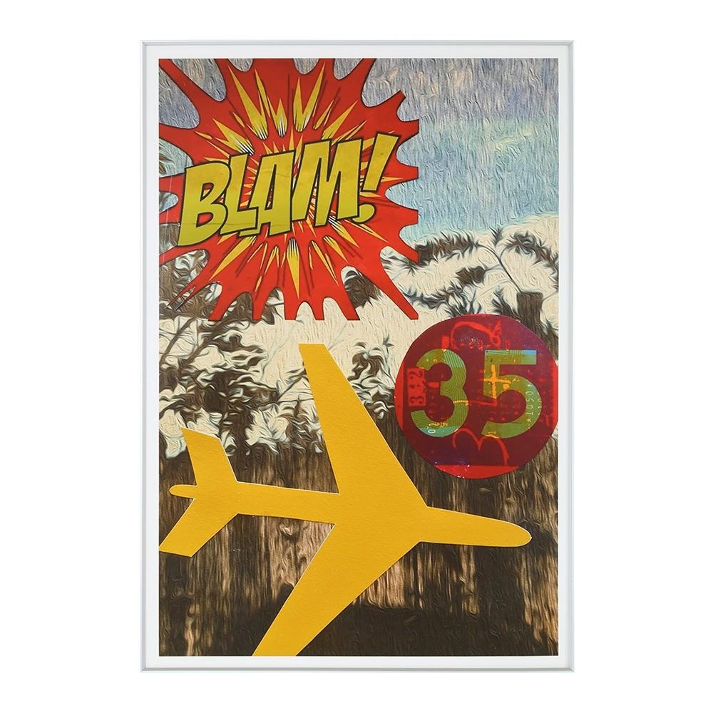 "100-824 Blam Plane Thirty Five (9"" x 13"")"