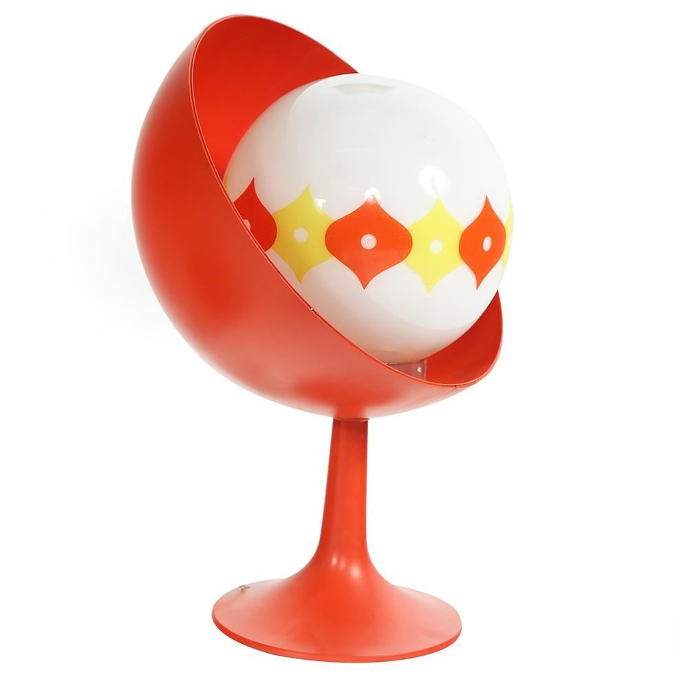Red Spherical Table Lamp
