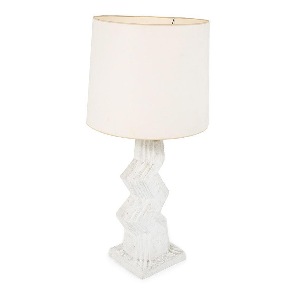 White Plaster Table Lamp