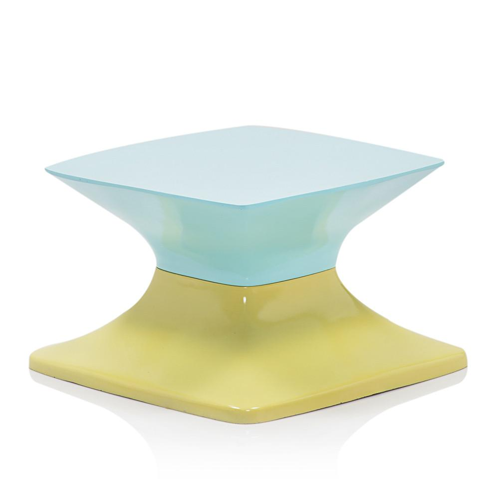 Color Block End Table