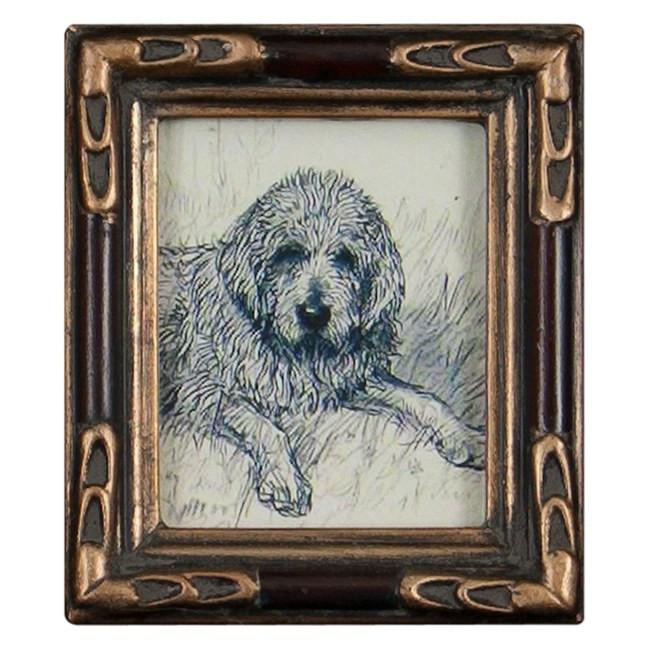 "100-189 Dog Extra Small Gold Frame ( 3.5"" x 4"")"