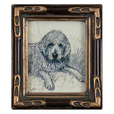 "BFA 100-189 Dog Extra Small Gold Frame ( 3.5"" x 4"")"