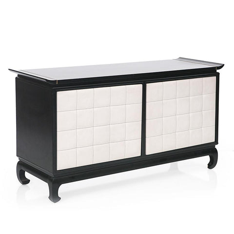 Black and White Asian Inspired Credenza