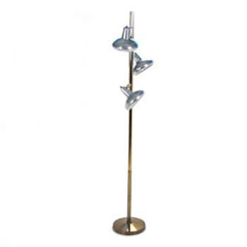 Brass Aluminum Three Shade Floor Lamp