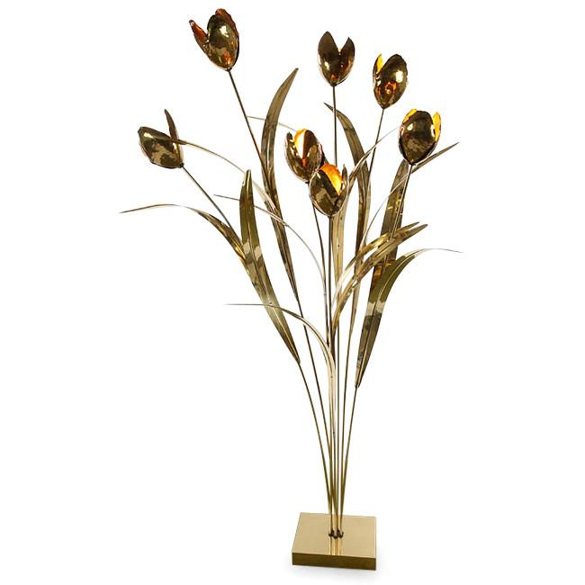 Brass Flowers with Brass Base