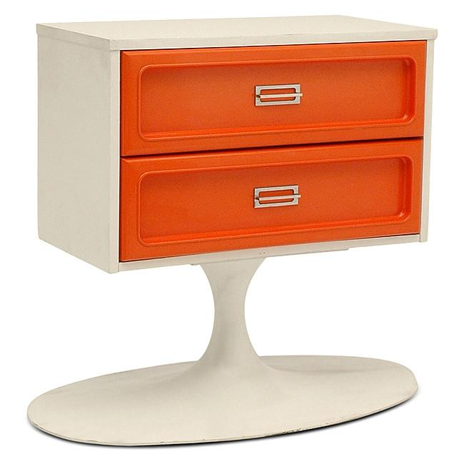 Orange Two Drawer on Saarinen Base