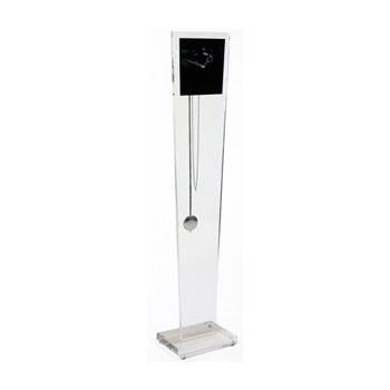 Floor Clock w/ Tapered Lucite Column