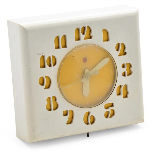 White Gold Square Wall Clock