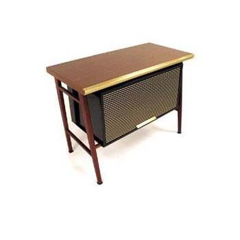 Walnut Brass Filing Console