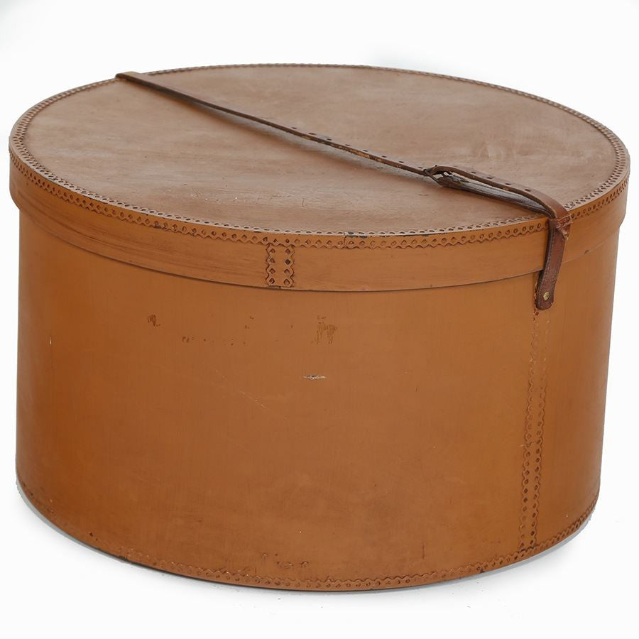 Light Brown Large Hatbox