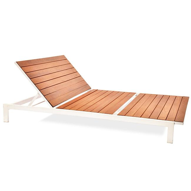 Modernica White Teak Double Chaise