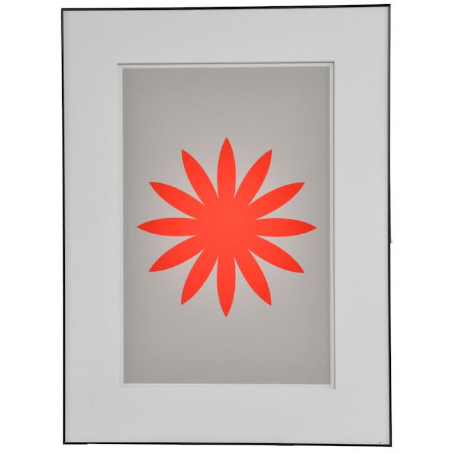 "100-753 Red Gray Flower (18"" x 24"")"