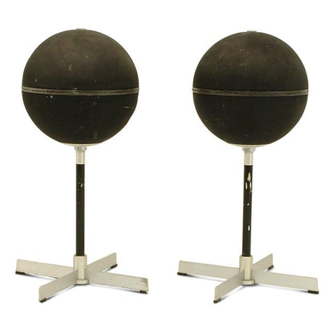 Ball Speakers - Black on Stand - Set of 2