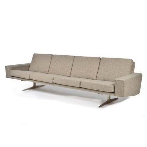 Contemporary Wheat 4 Seater Sofa