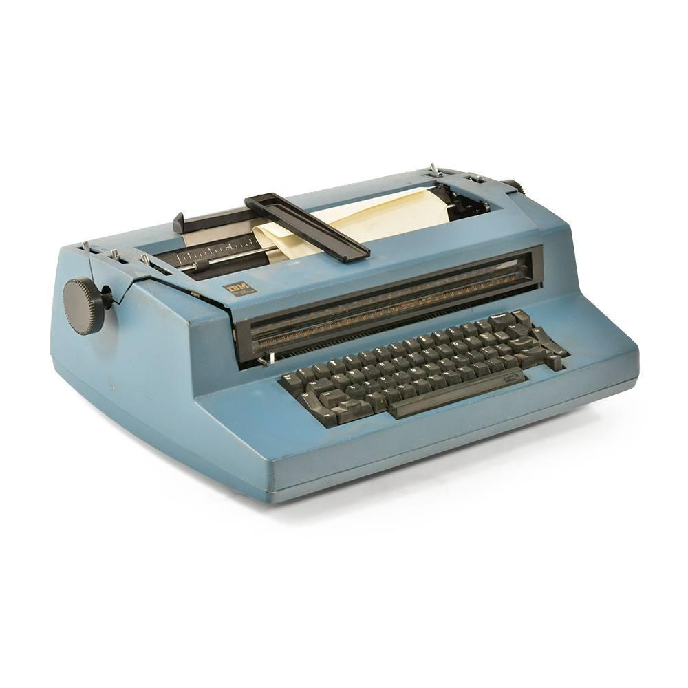 Blue IBM Typewriter