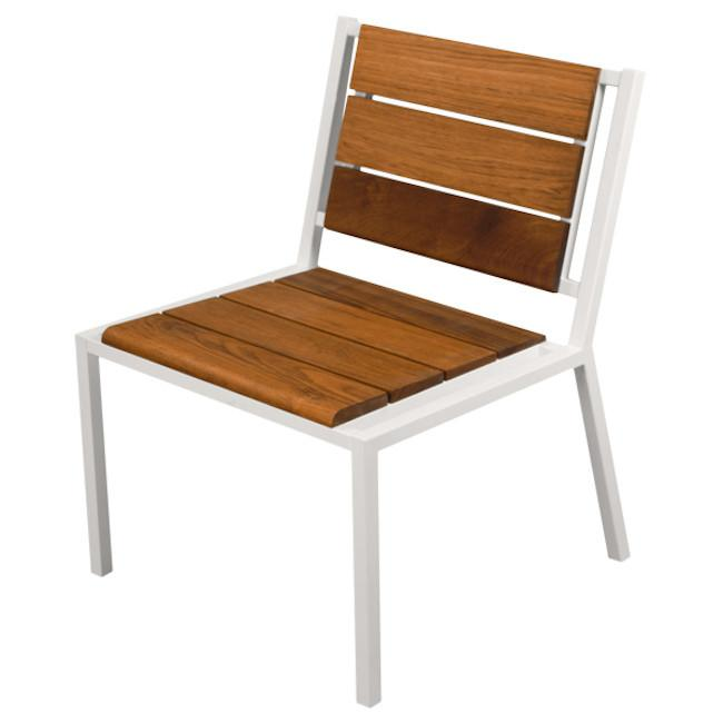 Modernica White Teak Dining Chair