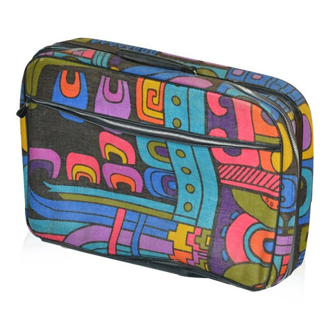 Black and Colored Pattern Suitcase