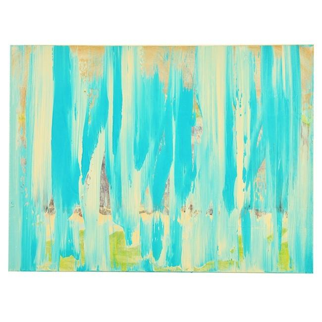 "100-683 Turquoise White Abstract (24"" x 18"")"