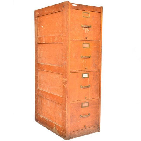 Brown Metal Filing Cabinet