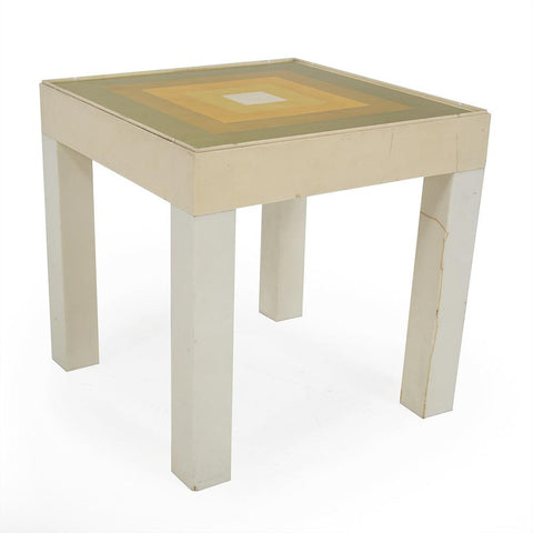 Cream Side Table