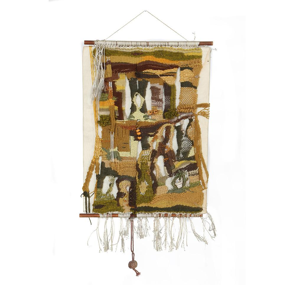 Village with Fringe Wall Hanging