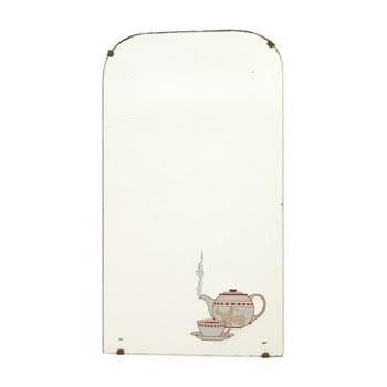Teapot Etching Wall Mirror