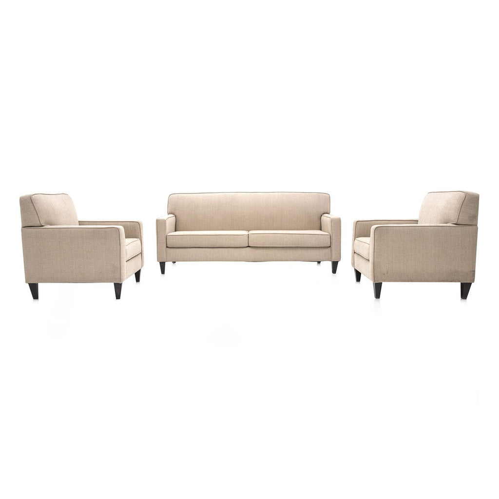 Beige Contemporary Sofa
