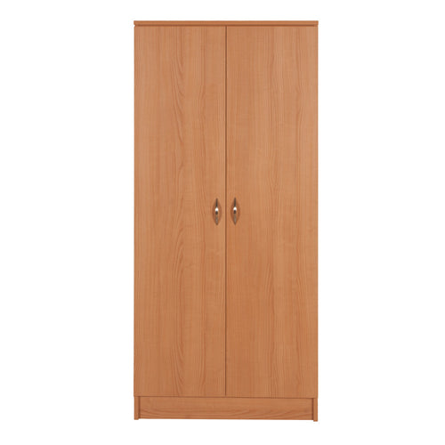 Wardrobe - Two Door, Two Shelf - Contemporary