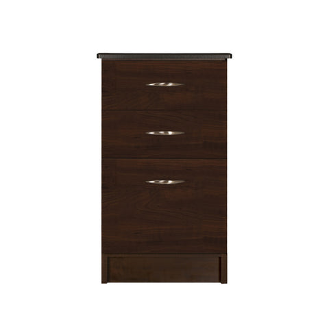 Nightstand - Three Drawer-Wide - Contemporary