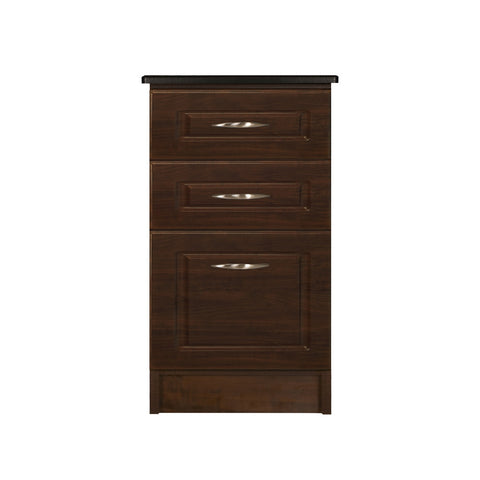 Nightstand - Three Drawer-Narrow - Traditional