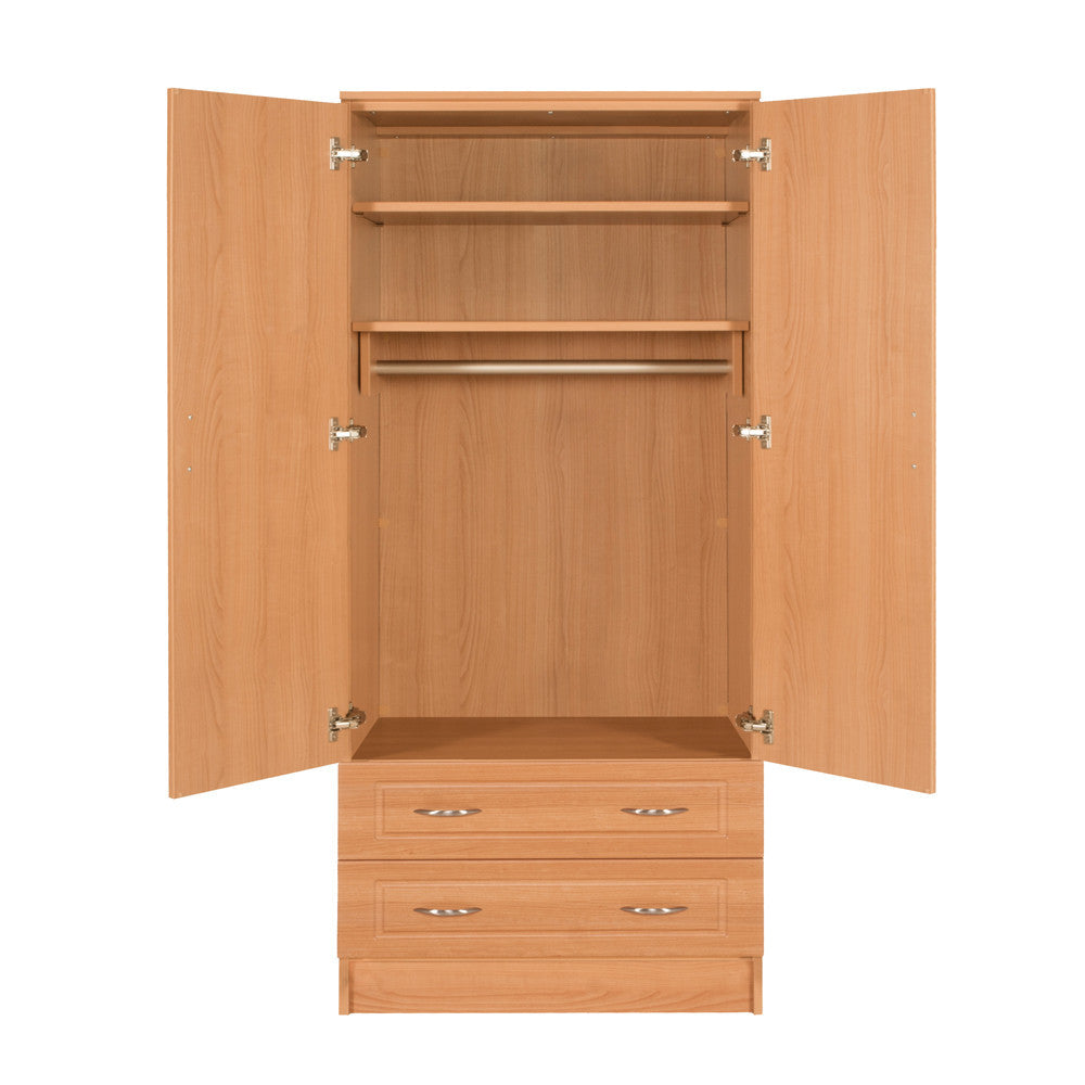 Wardrobe - Two Door, Two Drawer - Traditional