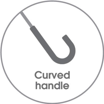 Curved handle