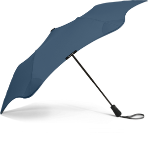 Navy Blue Metro Blunt Umbrella Side View