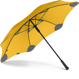 Yellow Classic Blunt Umbrella View From Under
