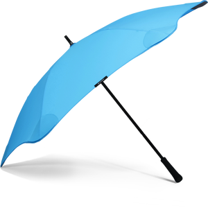 Blue Classic Blunt Umbrella Side View