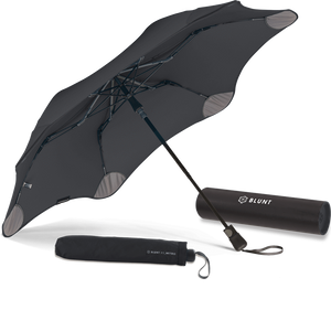 Black Metro Blunt Umbrella Hero