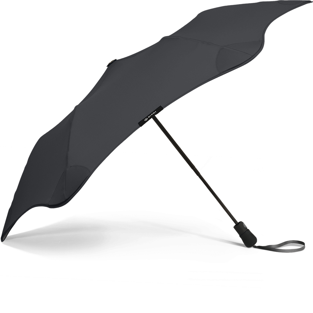 Black Metro Blunt Umbrella Side View